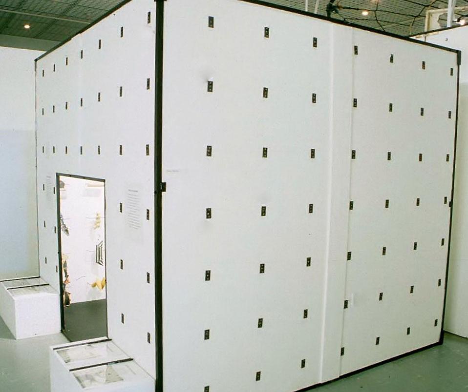 Helen Marton - Echoes Cube Exterior - 2000 - 7ft x 7ft