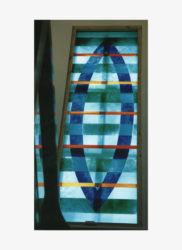 10 Penlee House Museum&Art Gallery, Penzance - Inlaid glass mosaic window, 100cm x 300cm copy